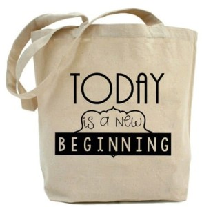 "Shopper    ""TODAY IS A NEW BEGINNING"""