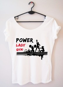 "Bluzka ""power lady gym"""