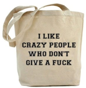 "Shopper ""I LIKE CRAZY PEOPLE..."""