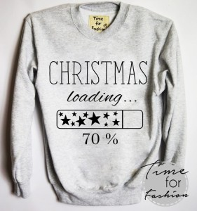"Bluza""CHRISTMAS LOADING 70%"""