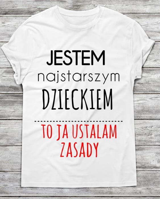 643b828566fe9 Koszulka męska jestem najstarszym dzieckiem (1) Time For Fashion ...